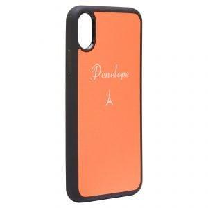 iPhone X/XS Nappa Leather Case - Orange