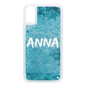 iPhone X/XS Glitter Case - Blue