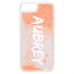 iPhone 7 Plus/8 Plus Glitter Case - Orange