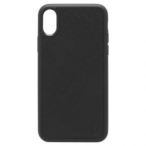 iPhone X/XS Saffiano Leather Case - Black