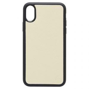 iPhone X/XS Saffiano Leather Case - Gold