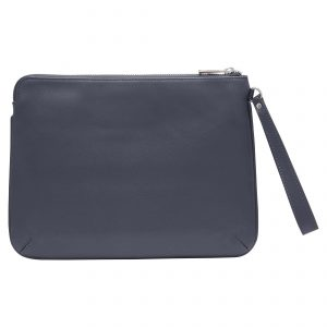 Personalised Leather Pouch Medium - Blue