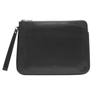 Personalised Leather Pouch Medium - Black