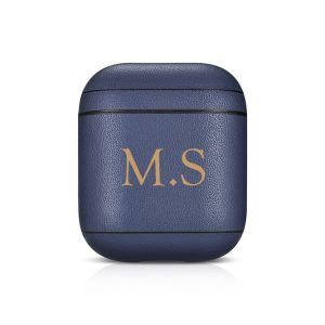 AirPods Leather Case- Blue