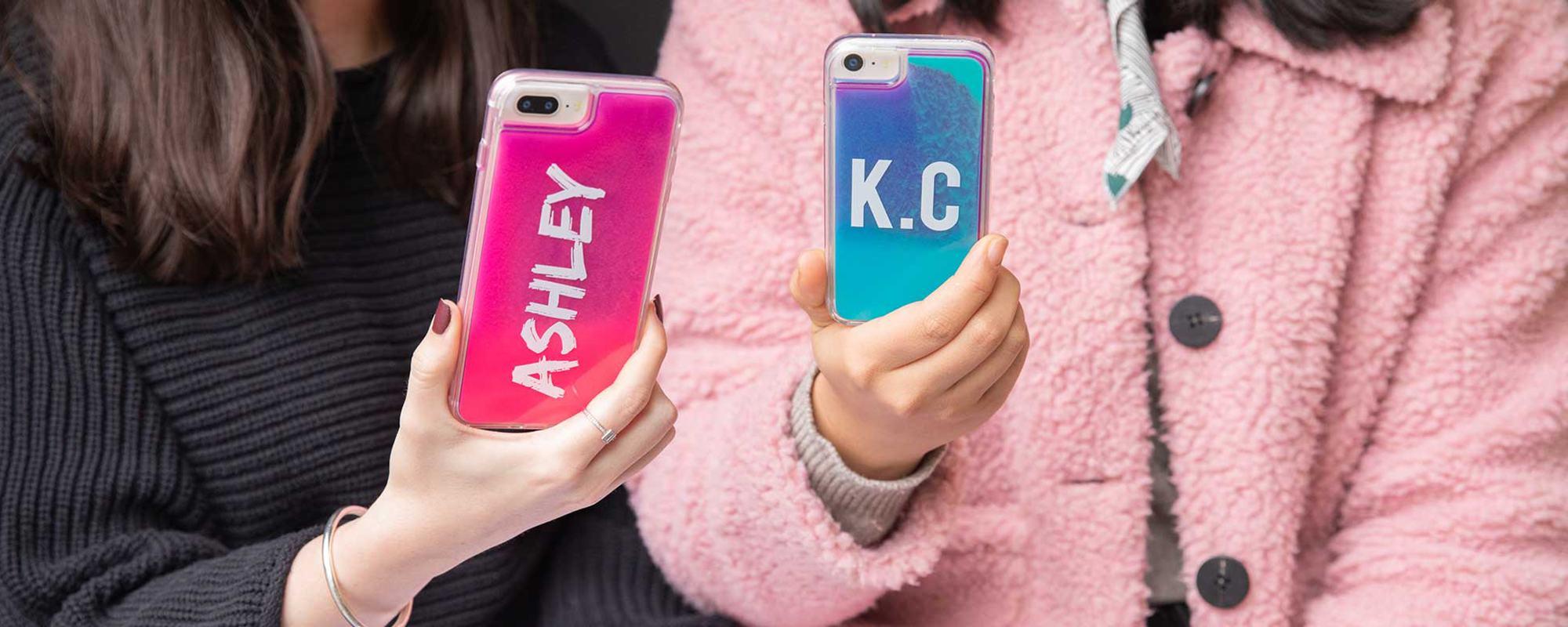 iPhone 11 Neon Sand Case- Blue/Purple