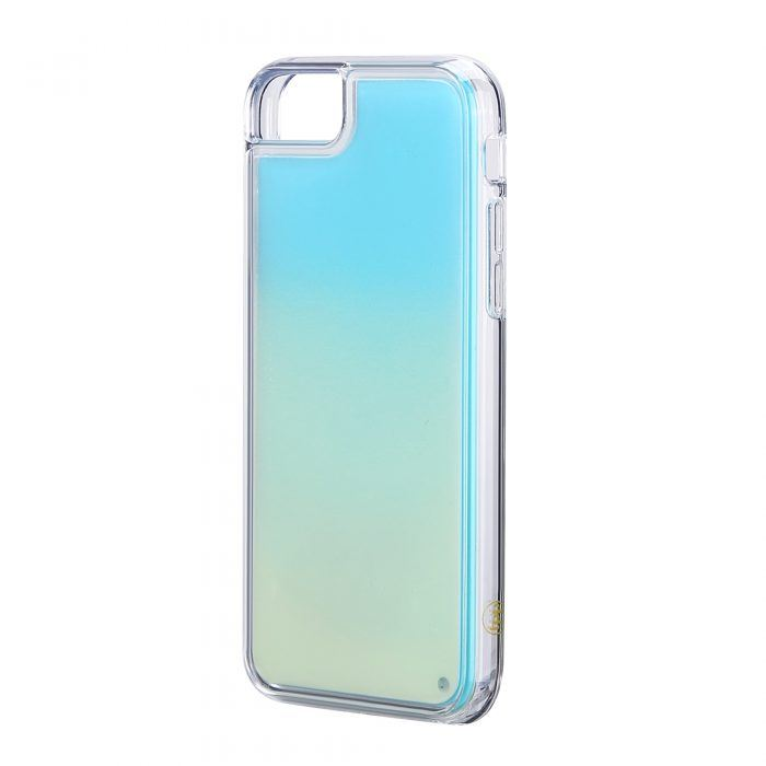 iPhone 6/6S Neon Sand Case- White/Sky Blue