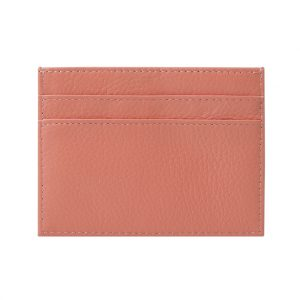 Slim Card Holder- Grained Leather Blush Nude