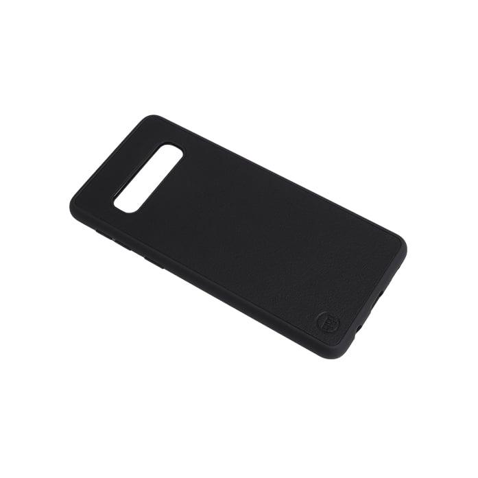 Samsung S10 Nappa Leather Case - Black