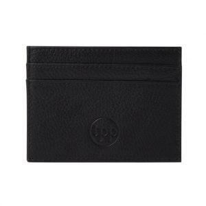 Slim Card Holder- Grained Leather Black