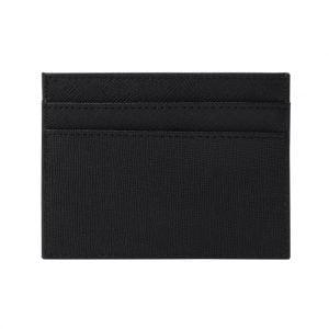 Slim Card Holder- Saffiano Black