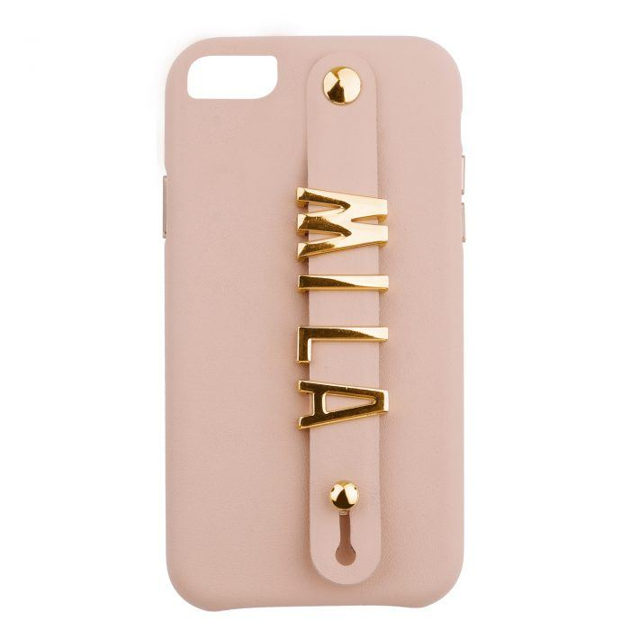 iPhone 7/8 Letter Strap Case- Nuud