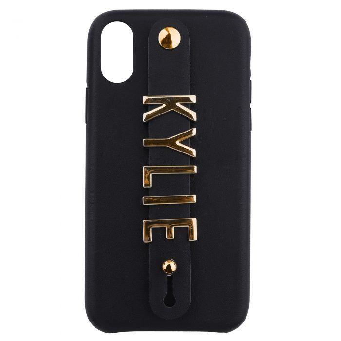iPhone XR Letter Strap Case- Black
