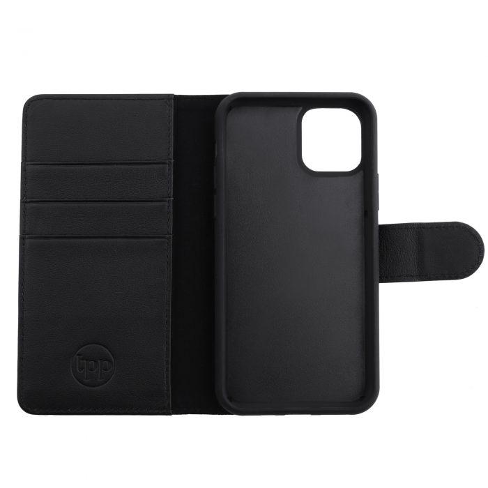 iPhone 11 Pro Max Leather Wallet Case- Black