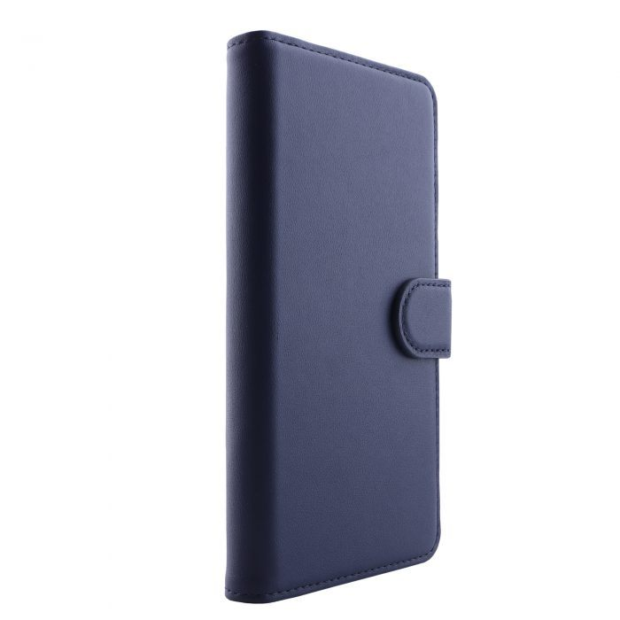 iPhone 11 Leather Wallet Case- Blue