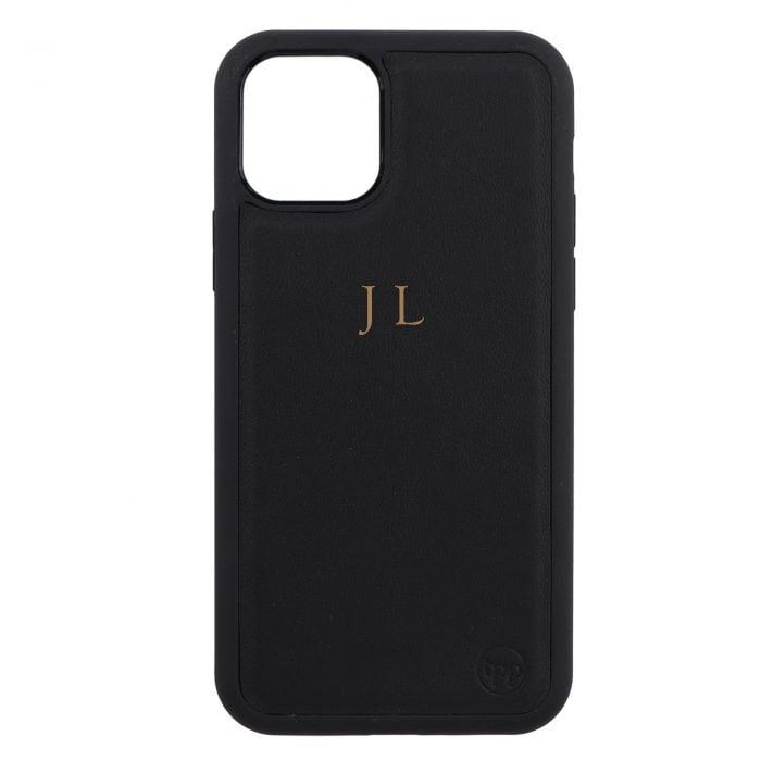 iPhone 11 Pro Max Nappa Leather Case - Black