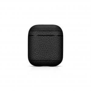 AirPods Leather Case- Grain Black