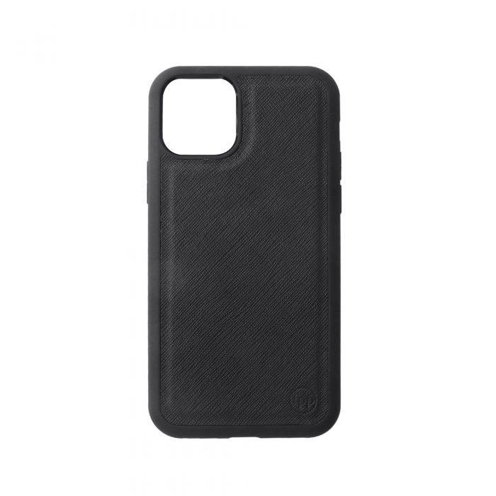 iPhone 11 Pro Max Saffiano Leather Case - Black