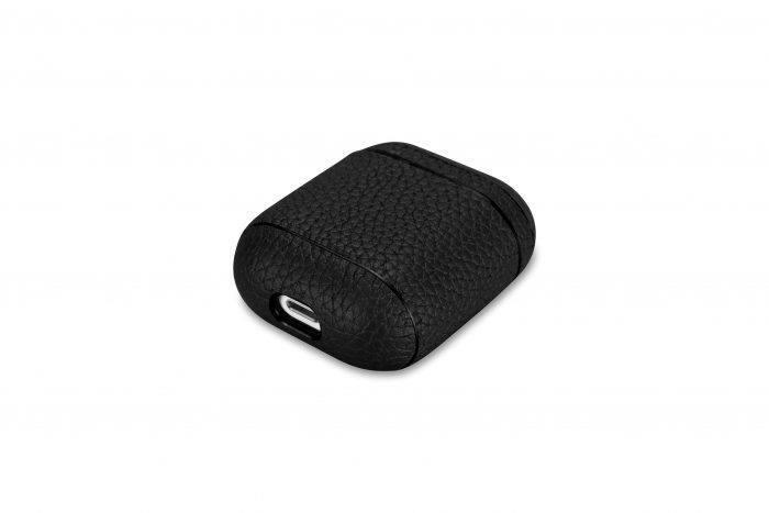 AirPods Leather Case- Grain Black