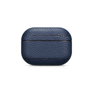 AirPods Pro Leather Case- Grain Navy Blue