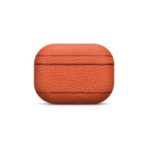AirPods Pro Leather Case- Grain Orange