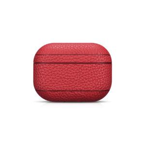 AirPods Pro Leather Case- Grain Red