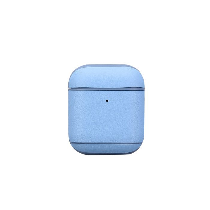 AirPods Leather Case- Light Blue