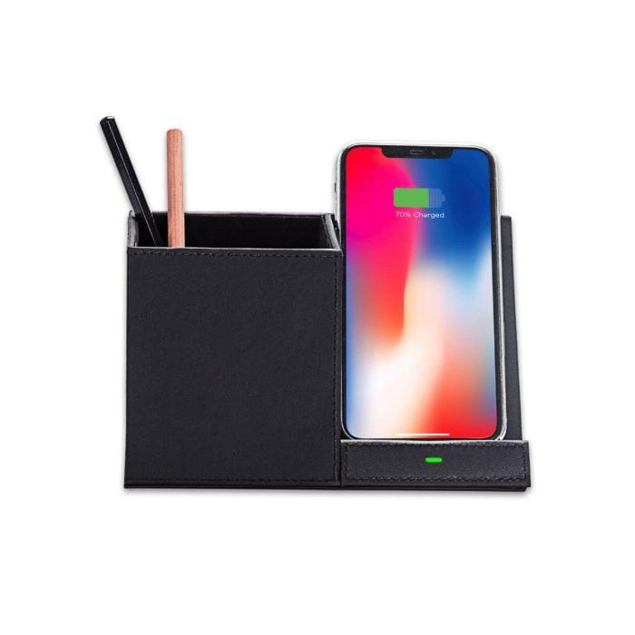 Wireless Charging Desktop Stand- Black