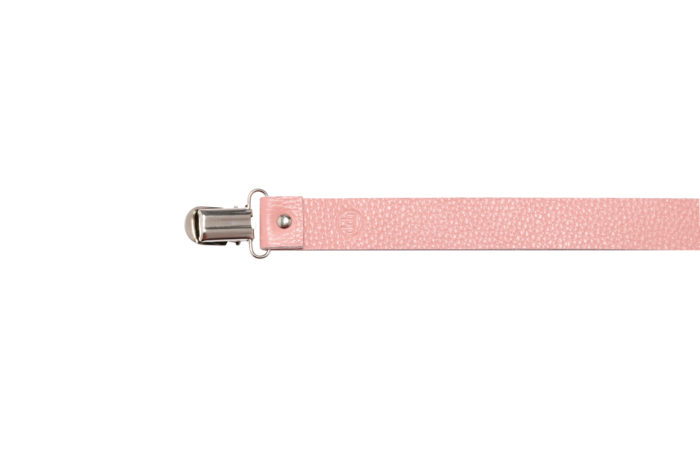 Leather Dummy Baby Strap- Pink