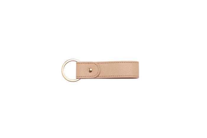 Leather Keychain- Nude