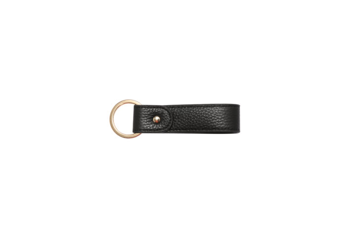 Leather Keychain- Black