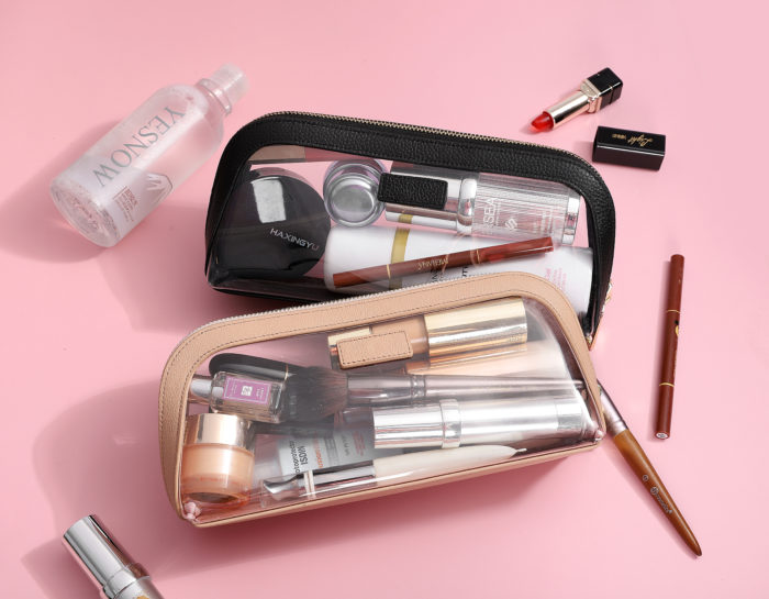 Clear Cosmetic Case Large- Nude