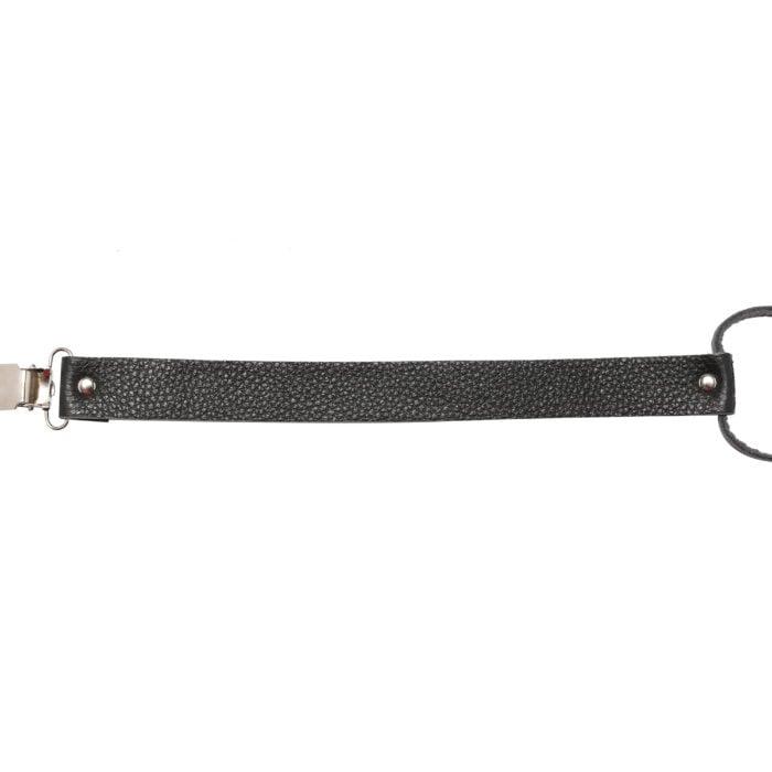 Leather Dummy Baby Strap- Black