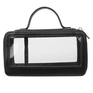 Clear Travel Case with handle- Black