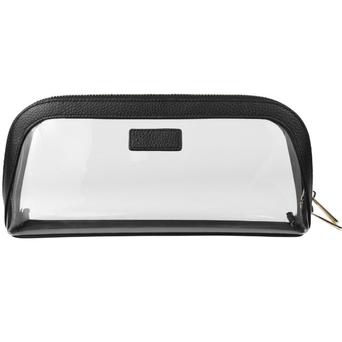Clear Cosmetic Case Large- Black