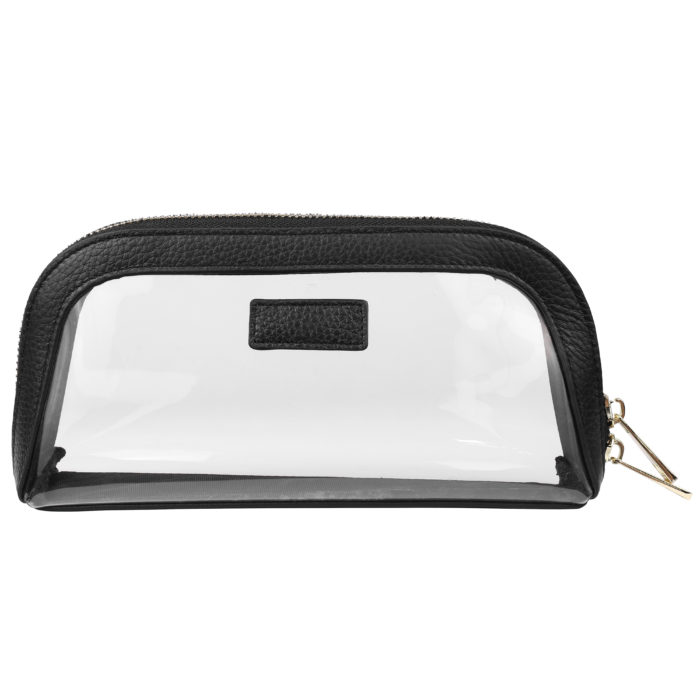 Clear Cosmetic Case Small- Black