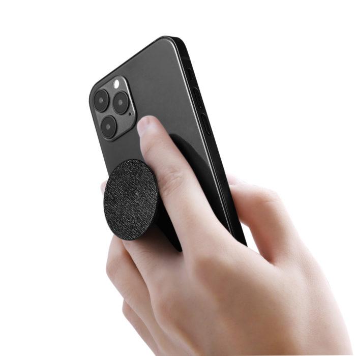 Phone Grips- Saffiano Black