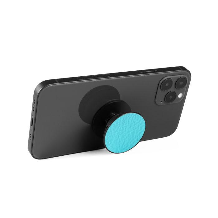 Phone Grips- Saffiano Aqua