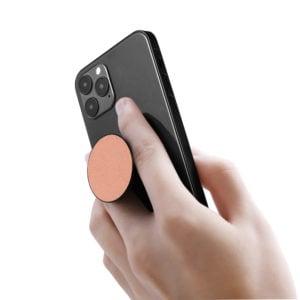 Phone Grips- Saffiano Nude