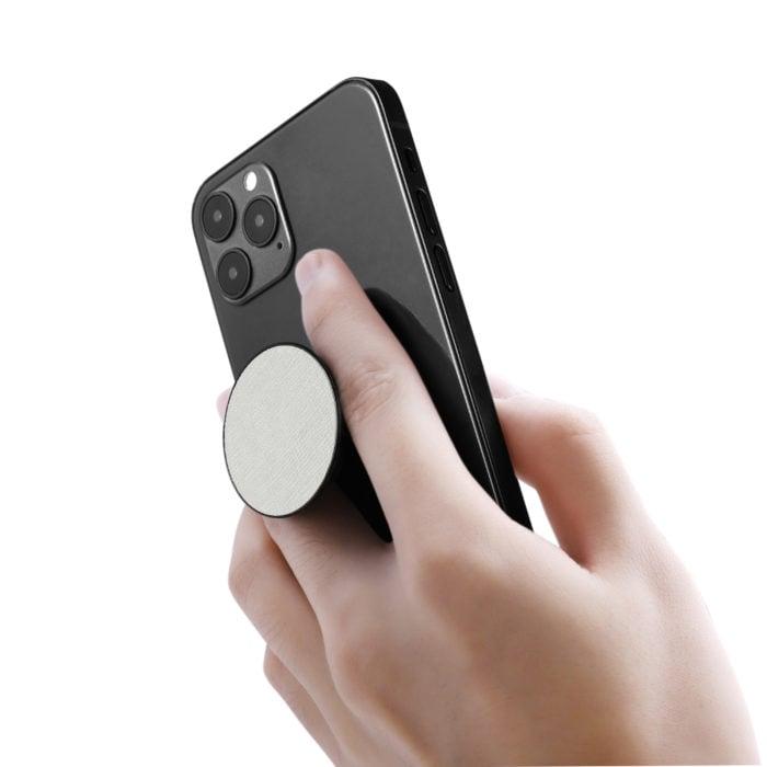 Phone Grips- Saffiano White