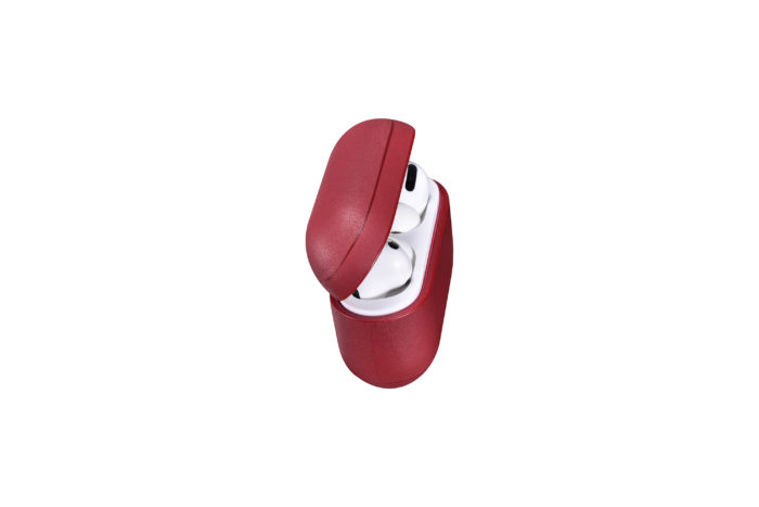 AirPods Pro Leather Case- Red