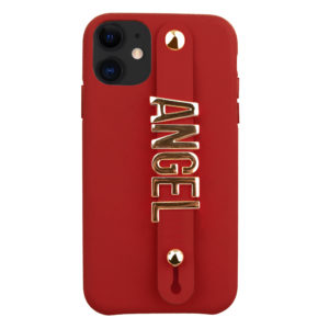 iPhone 11 Letter Strap Case- Red