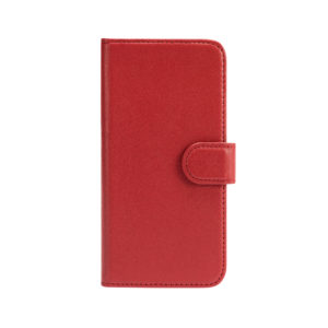 iPhone 11 Leather Wallet Case- Red