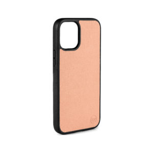 iPhone 12 Saffiano Leather Case - Nude
