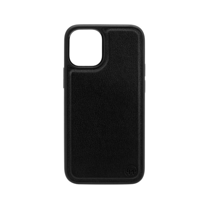 iPhone 12 Nappa Leather Case - Black