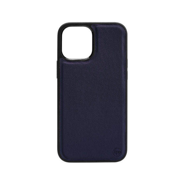 iPhone 12 Nappa Leather Case - Blue
