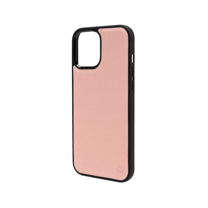 iPhone 12 Nappa Leather Case - Blush Nude