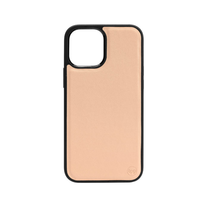 iPhone 12 Nappa Leather Case - Nude