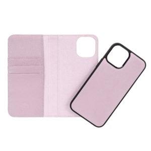 iPhone 12 mini Leather Wallet Case- Purple