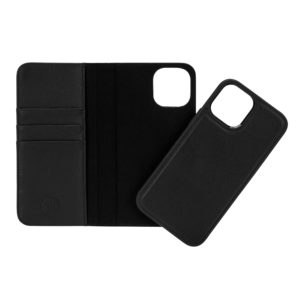iPhone 12 Pro Max Leather Wallet Case- Black