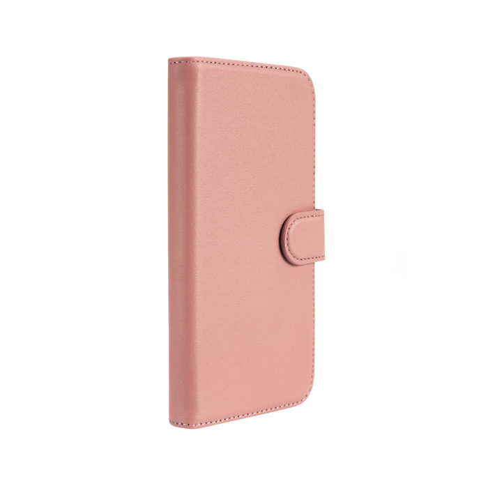 iPhone 12 Leather Wallet Case- Blush Nude